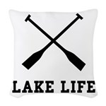 Lake Life Woven Throw Pillow