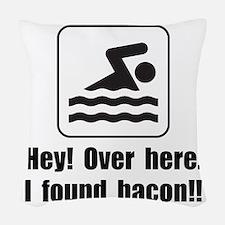 Found Bacon Woven Throw Pillow