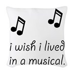 Live In Musical Woven Throw Pillow