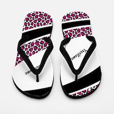 Trendy Pink Leopard Flip Flops