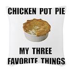 Chicken Pot Pie Woven Throw Pillow