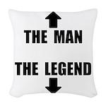 The Man Legend Woven Throw Pillow