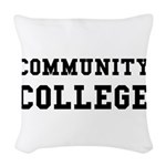 Community College Woven Throw Pillow