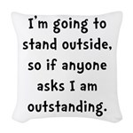 Outstanding Woven Throw Pillow