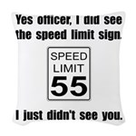 Speed Limit Black.png Woven Throw Pillow
