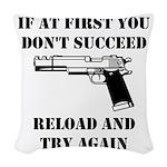 Reload Gun Black.png Woven Throw Pillow