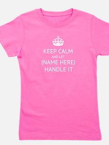 Keep Calm Handle It Girl's Tee