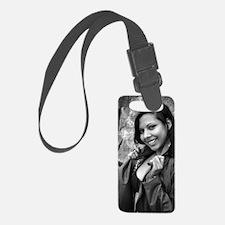 Young Hispanic Woman Luggage Tag