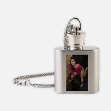 Young Hispanic Woman In Creek Flask Necklace