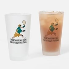 If Lacrosse Was Easy Drinking Glass