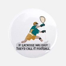 """If Lacrosse Was Easy 3.5"""" Button"""