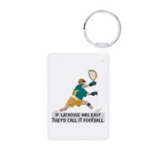If Lacrosse Was Easy Aluminum Photo Keychain