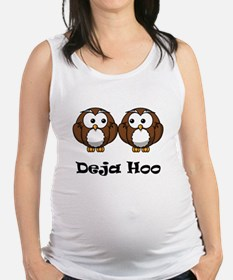 Deja Hoo Black.png Maternity Tank Top