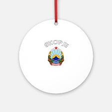 Skopje, Macedonia Ornament (Round)