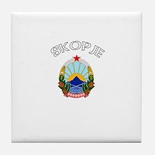 Skopje, Macedonia Tile Coaster