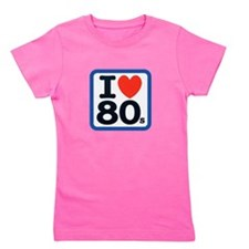 I Heart 80s Blue ONLY.png Girl's Tee