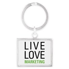 Live Love Marketing Landscape Keychain