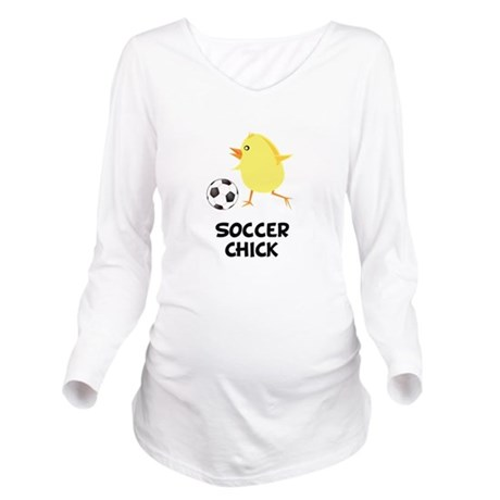 FBC Soccer Chick Black.png Long Sleeve Maternity T