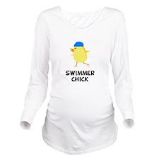 FBC Swimmer Chick Black.png Long Sleeve Maternity