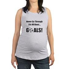 Soccer Goals Black (2).png Maternity Tank Top