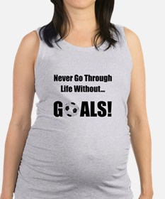 Soccer Goals Black (2).png Maternity Tank Top