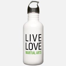 Live Love Martial Arts Water Bottle