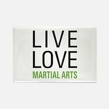 Live Love Martial Arts Rectangle Magnet