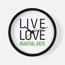 Live Love Martial Arts Wall Clock