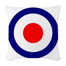 RAF Roundel Blue.png Woven Throw Pillow