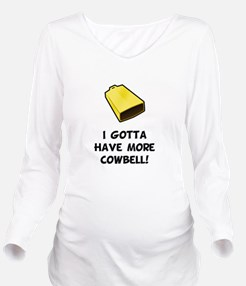 More Cowbell Black.png Long Sleeve Maternity T-Shi