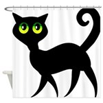 Cat With Green Eyes Shower Curtain