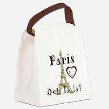 Paris Ooh la la Canvas Lunch Bag