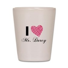 I Love Mr. Darcy Shot Glass