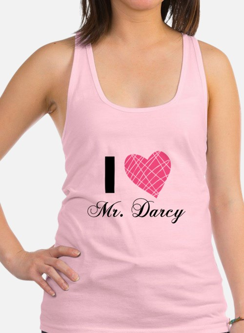 I Love Mr. Darcy Racerback Tank Top