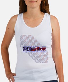 POWRcR with Background Tank Top