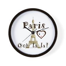 Paris Ooh La La Wall Clock