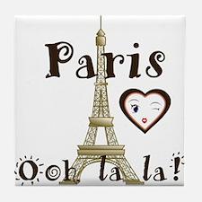 Paris Ooh La La Tile Coaster