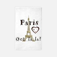 Paris Ooh La La 3'x5' Area Rug