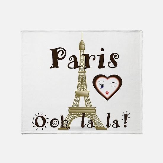 Paris Ooh La La Throw Blanket
