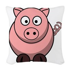 Pig ONLY.png Woven Throw Pillow