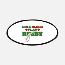 Give Blood, Play Rugby Patches