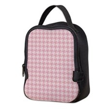 Pink Houndstooth Neoprene Lunch Bag