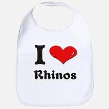 I love rhinos  Bib