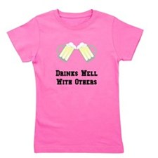 Drinks Well With Others Black.png Girl's Tee