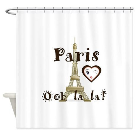 Paris Ooh La La Shower Curtain Hot Girls Wallpaper