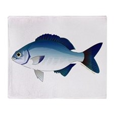 Blue Sea Chub Throw Blanket