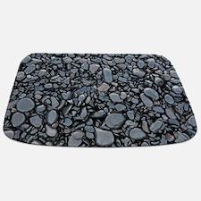 Black Smooth Stones mat Bathmat