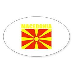 Macedonia Oval Decal