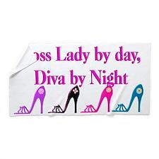 Cool Boss Lady Beach Towel