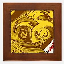 Nutella chocolate love Framed Tile